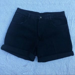 Vintage Black Mom Jean Shorts